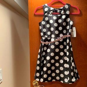 NWT Polka dot dress, size 10